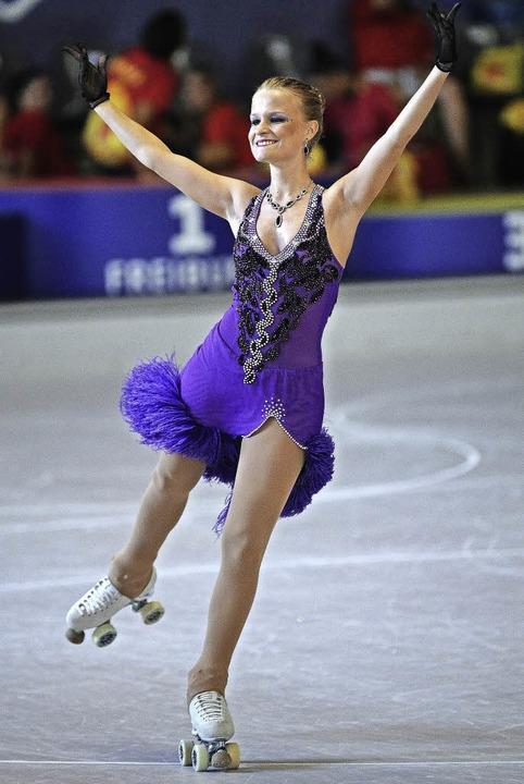 Siegerin im  Solotanz der Meisterklasse: Vanessa Rohrmoser aus Delmenhorst   | Foto: Achim Keller