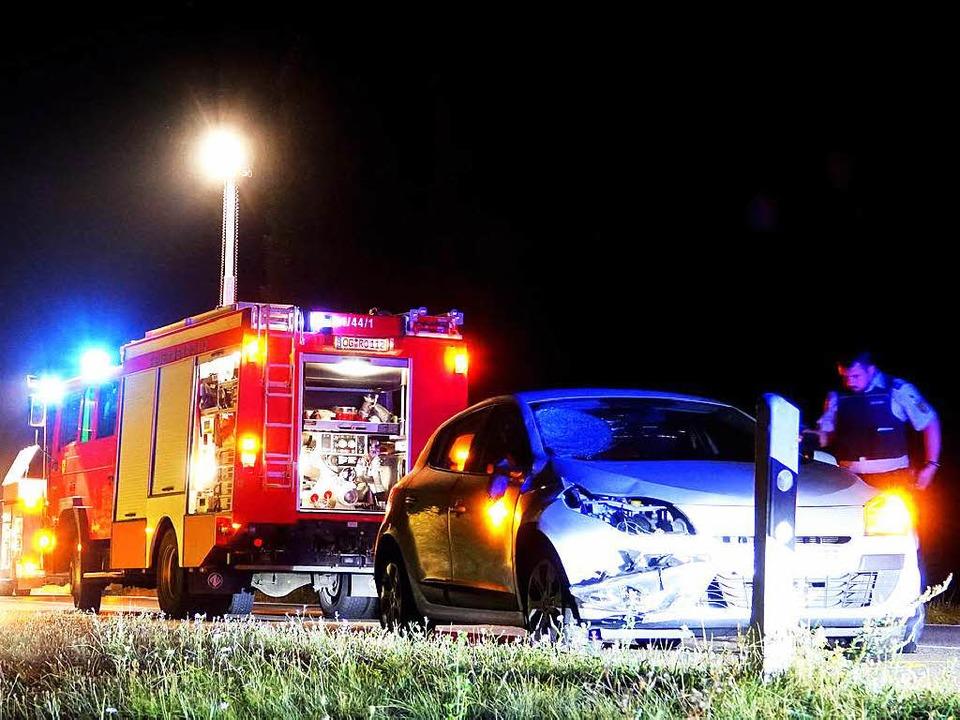 Der Fahrer dieses Renaults hatte keine...ler Straße dem Fußgänger auszuweichen.    Foto: Lukas Habura