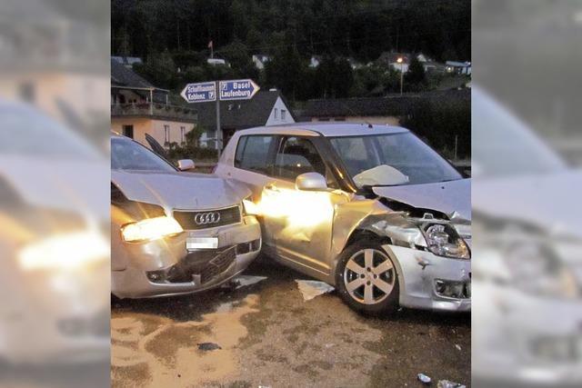 Drei Verletzte bei Unfall in Laufenburg-Sulz