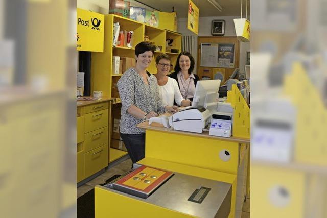 Tiengens Postfiliale ist nach Umbaupause wieder geöffnet