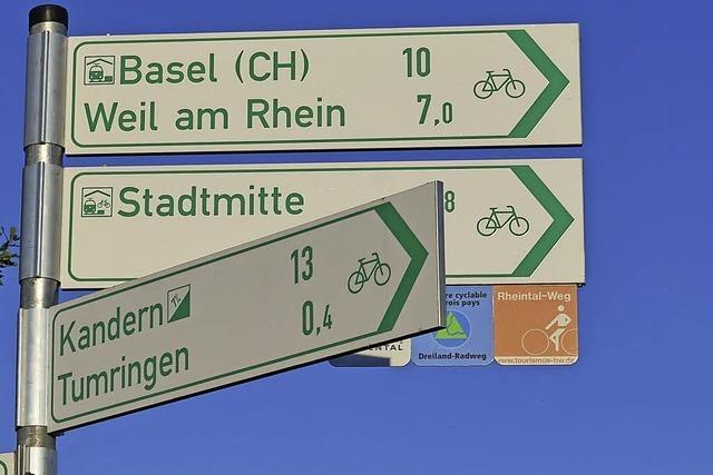 Kreis Lörrach setzt als erster Landkreis das neue alltagstaugliche Radwegenetz um
