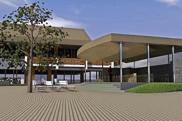 Ein Musikpavillon am Kur- und Sporthaus