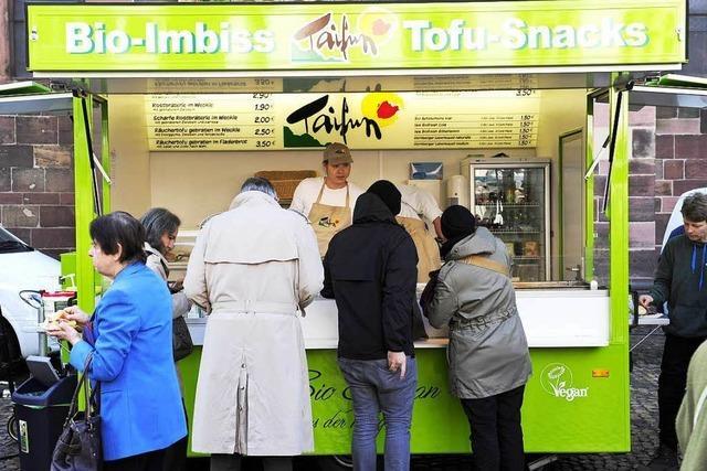 Bald gibt's keine Tofuwurst mehr auf dem Münstermarkt