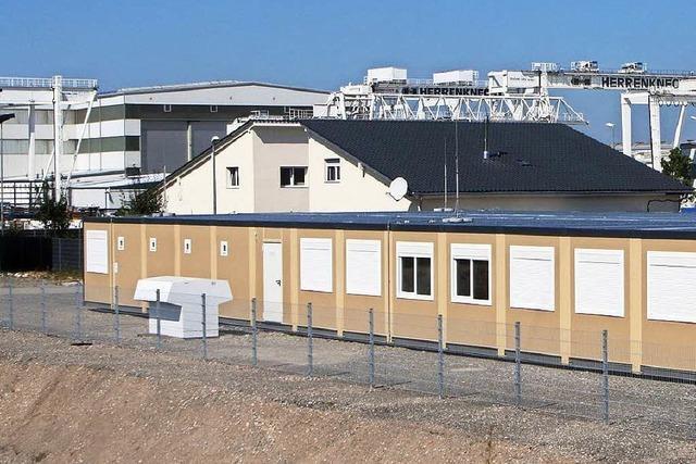 In die Container in Allmannsweier ziehen am Donnerstag 15 Flüchtlinge ein