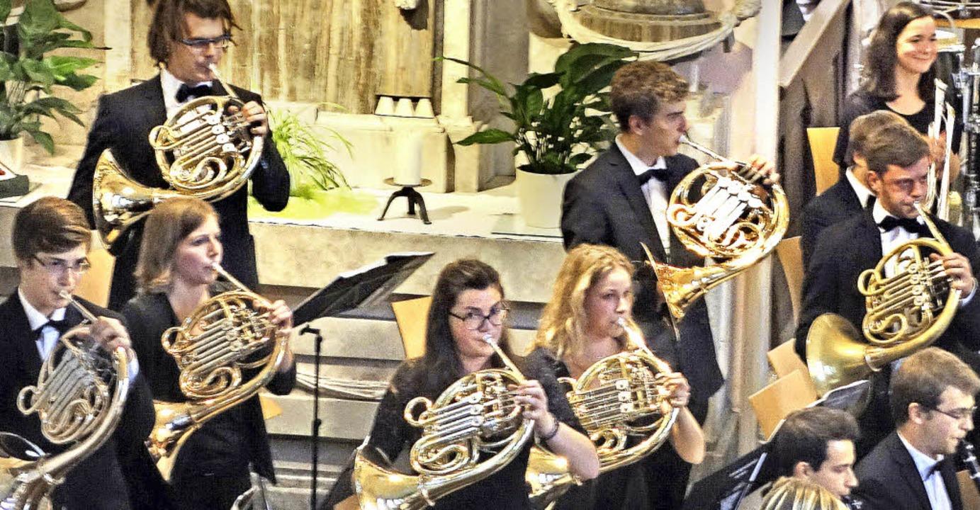 Sieben Hörner auf einen Streich hört man selten in einem Orchester.  | Foto: Andreas Mahler