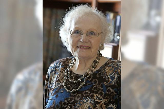 Sie war 1993 die erste Ehrenamtliche im Seniorenbüro
