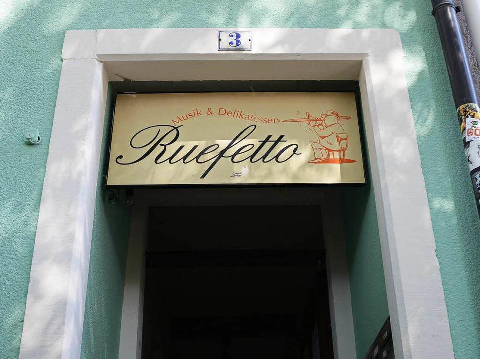 Der Eingang zum Ruefetto im Granatgäss...hen Kartäuser- und Leo-Wohlleb-Straße.  | Foto: Rita Eggstein