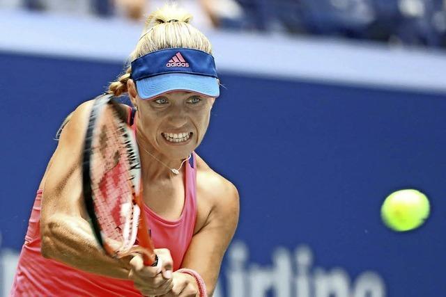 Kerber nach 7:5, 6:0-Sieg gegen Vinci im Halbfinale der US Open