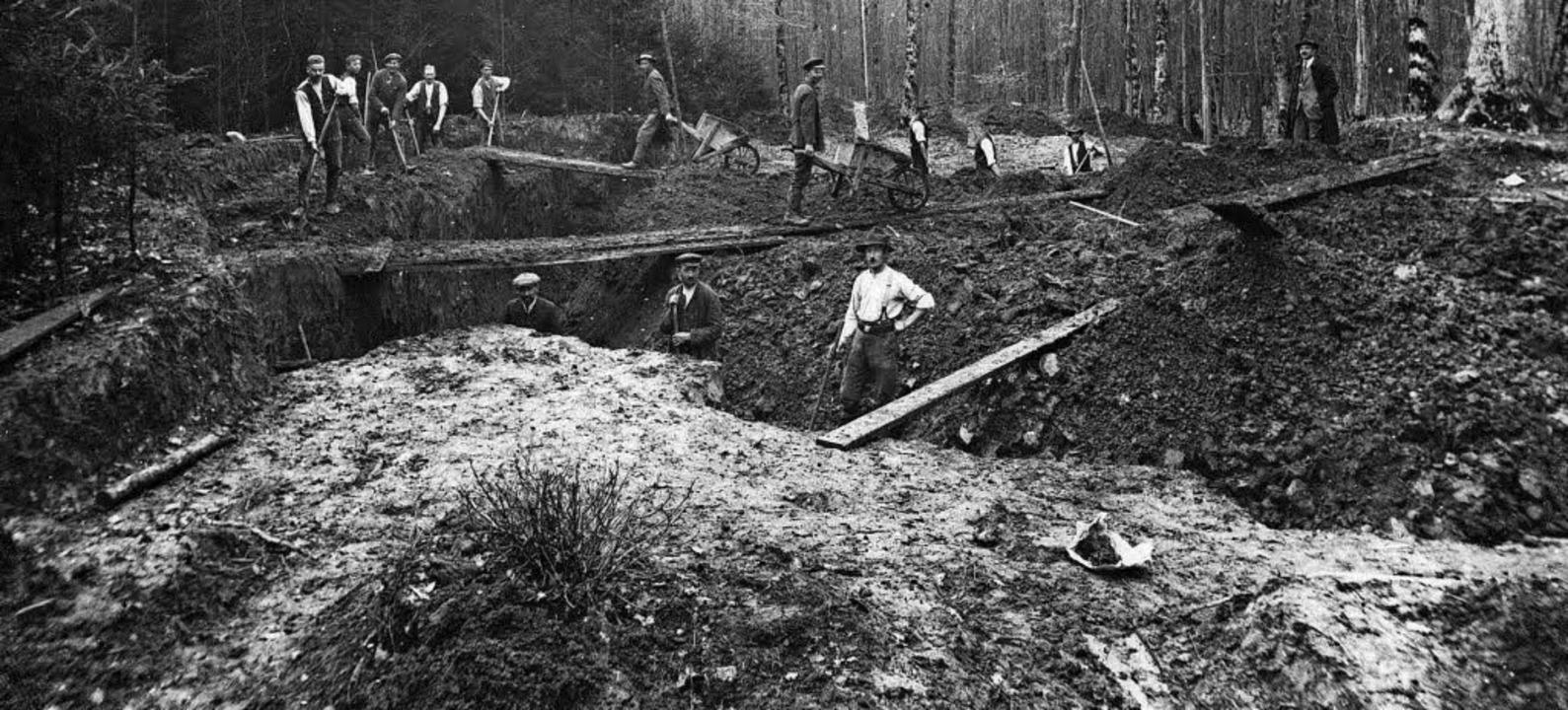 Grabhügeluntersuchung 1924 in Wintersweiler     Foto: Badisches Landesmuseum
