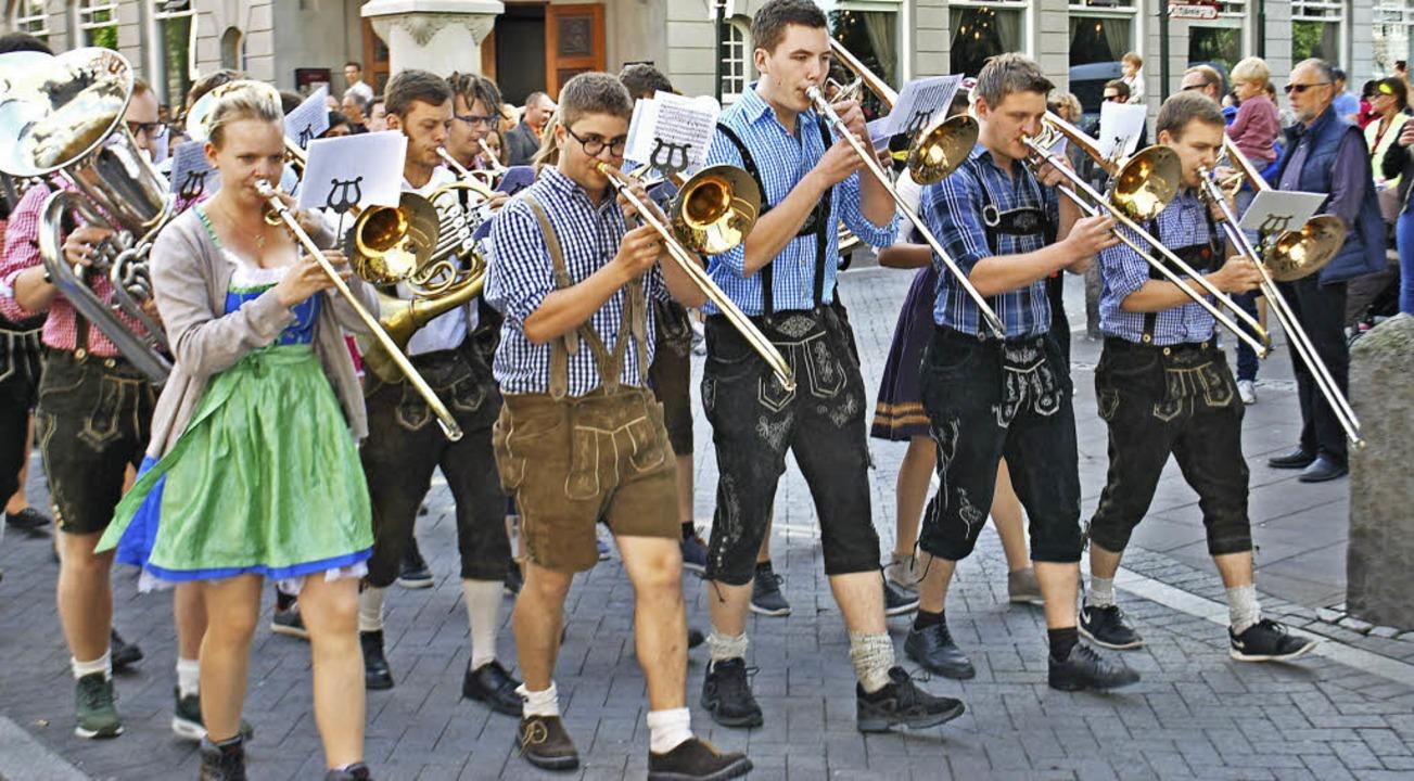 """Das Verbandsjugendorchester Hochrhein,...""""Culture Night"""" stattfand.    Foto: Klaus Siebold"""