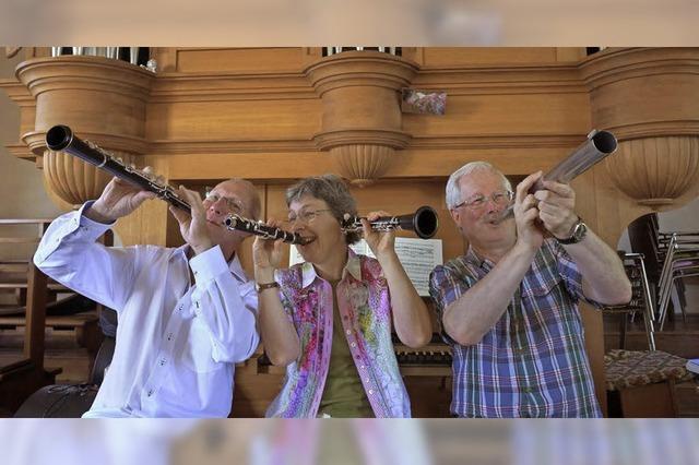 Solistenkonzert mit Günter Däggelmann, Ettenheim (Oboe), Margot Zimmermann, March-Holzhausen (Klarinette und Orgel), Willi Frank, Freiburg (Orgel)