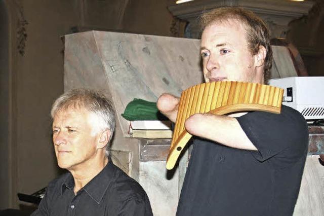 Panflöte und Orgel harmonieren perfekt