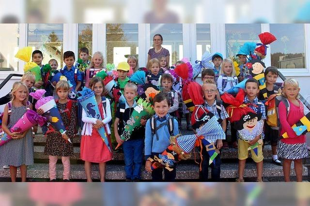 Erstklässler starten ins Schulleben