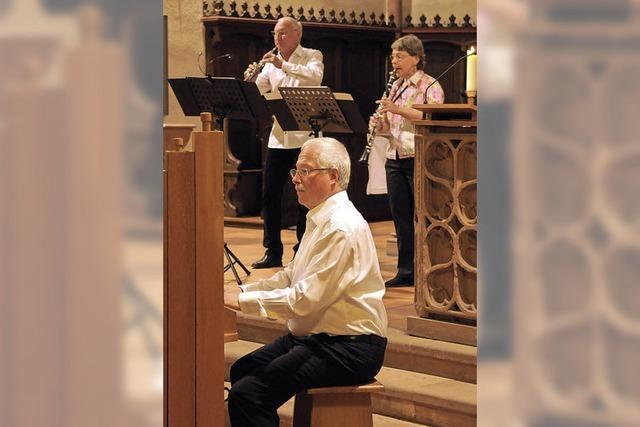 Gedränge auf der Orgelbank