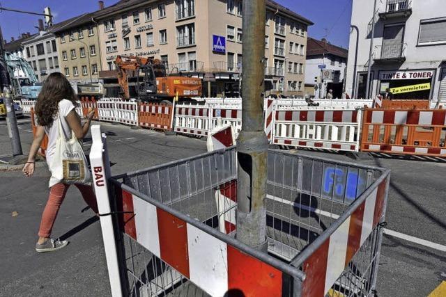 Läden und Lokale am Rotteck- und Friedrichring leiden unter der Großbaustelle