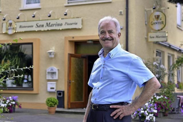 """Francesco Caridi betreibt seit 30 Jahren das Restaurant """"San Marino"""" im Stadtteil Waldsee"""