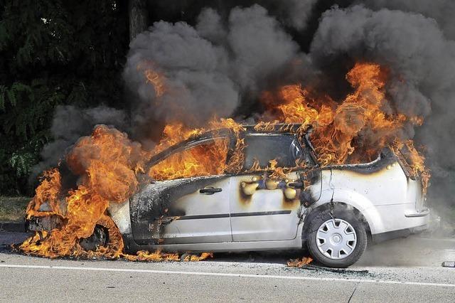 Wenn plötzlich der Motor brennt