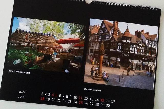 Gemeinsamer Kalender der Partnerstädte Lörrach und Chester für 2017