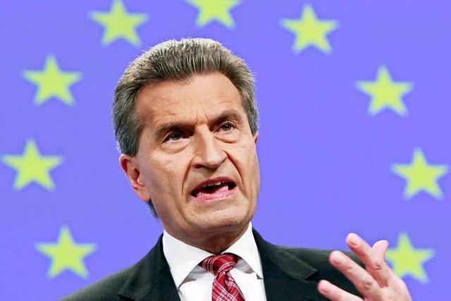 Oettinger sieht die EU