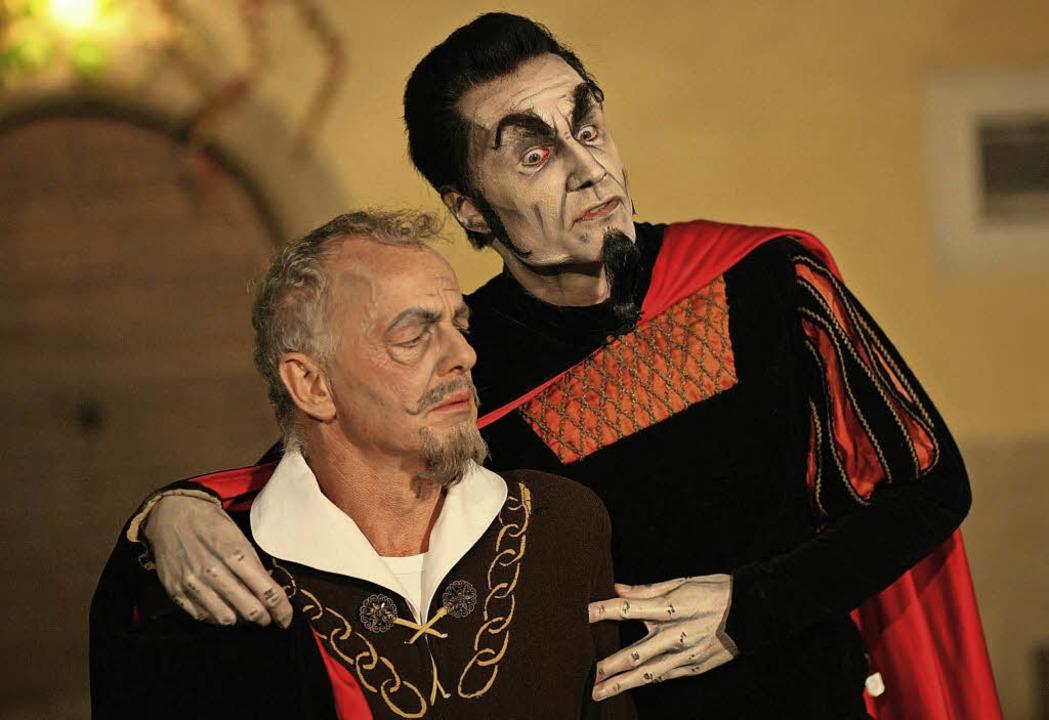 Seltsames Paar: Faust und Mephisto   | Foto: Veranstalter