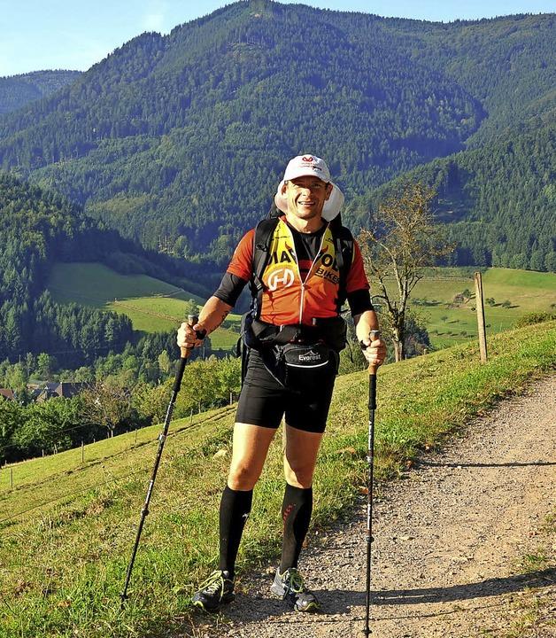 Trotz der Strapzen genoss Uwe Tritschl... herrliche Panorama entlang des Wegs.   | Foto: H. Dauenhauer