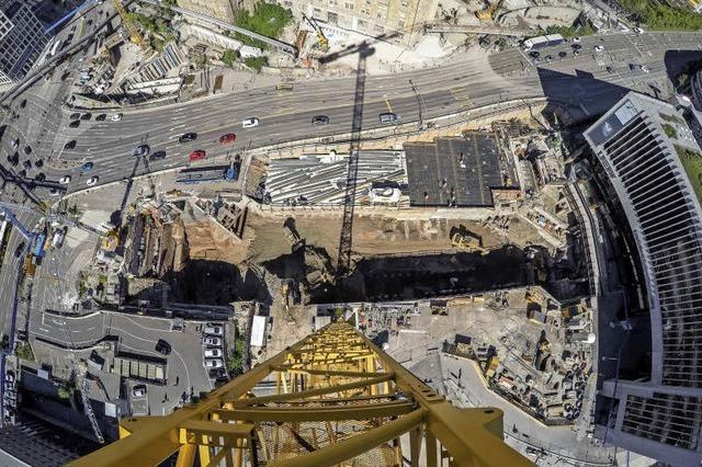 Grundstein für Stuttgart 21 wird gelegt