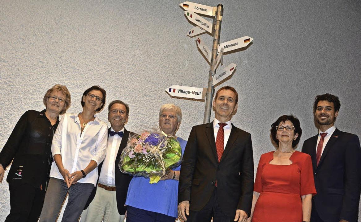 Neue Vorsitzende von Lörrach Internati...örg Lutz, Ingrid Erkens, Fabian Kropf   | Foto: Barbara Ruda