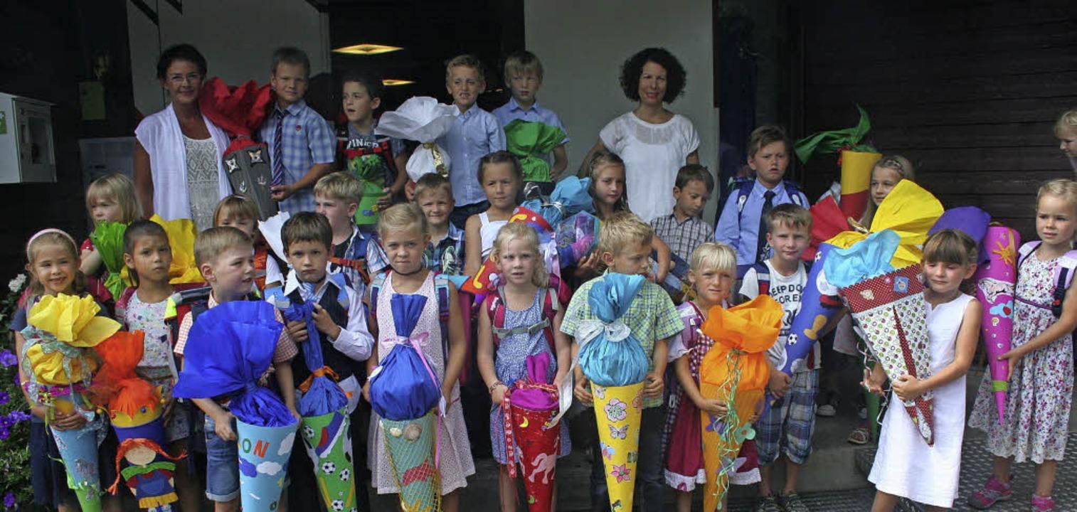 Für 25 Kinder aus Hinterzarten hat am Mittwoch der erste Schultag begonnen.   | Foto: Dieter Maurer