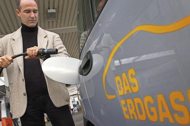 Einige Tanken für Erdgas offen