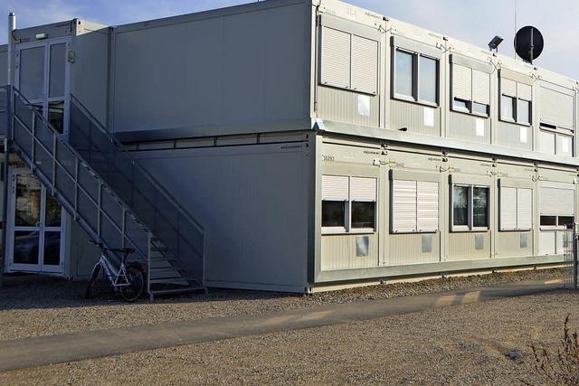 Wohncontainer für Flüchtlinge werden abgebaut