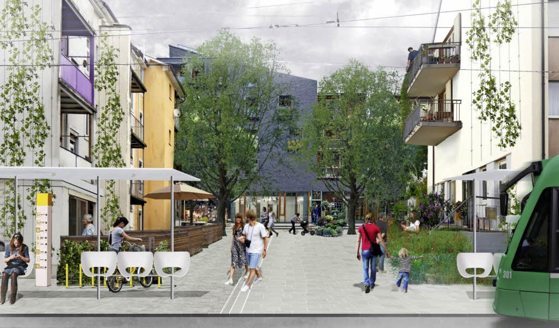 Von der jetzigen Schlaufe der Endhalte... Vorschlag von gehl architects zeigt.   | Foto: Skizze: gehl architects