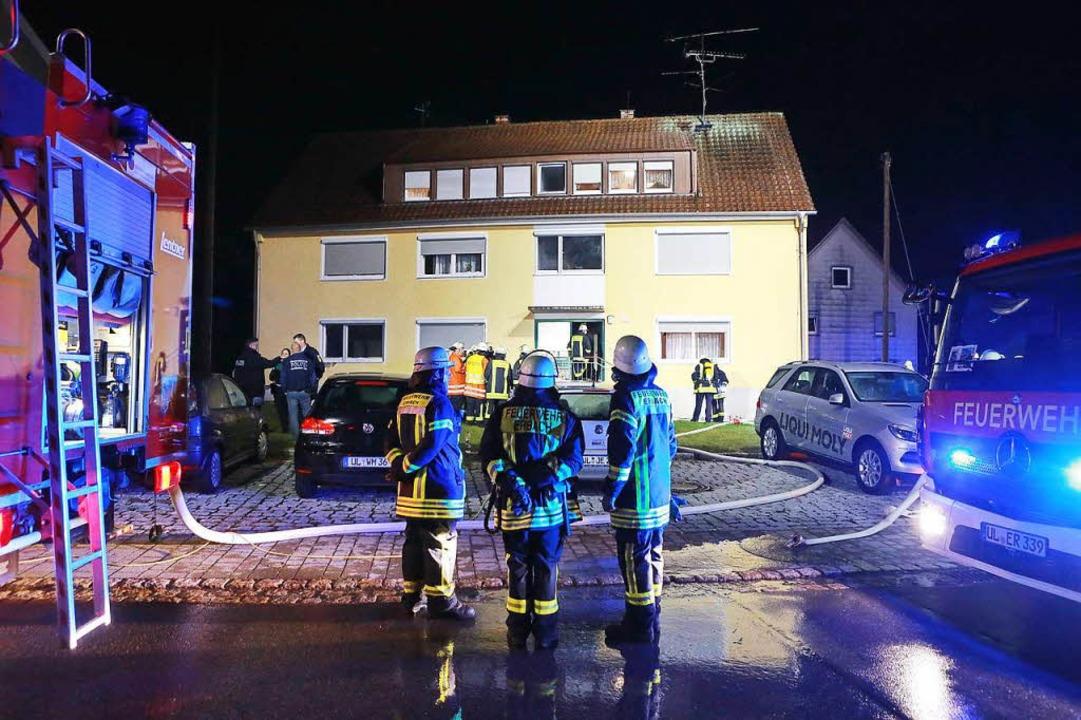 Feuerwehreinsatz im Heim in Erbach    Foto: dpa