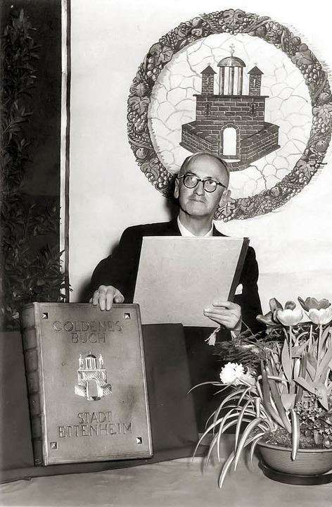"Der Ettenheimer Ehrenbürger Fritz Broß...hes"" an die Stadt im März 1957.   | Foto: Repro: Wolfgang Hoffmann"