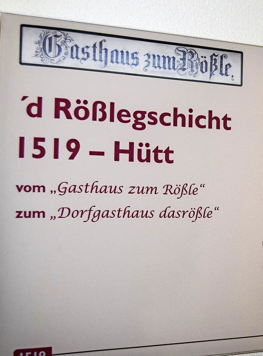 Wer die Geschichte des Rößle noch nich...am Tag des offenen Denkmals nachlesen.  | Foto: Ulrike Jäger