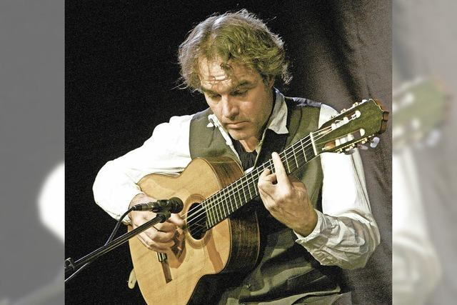 Gitarrist Falk Zenker in Badenweiler