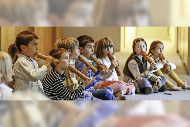 Kinder entdecken die Blockflöte für sich