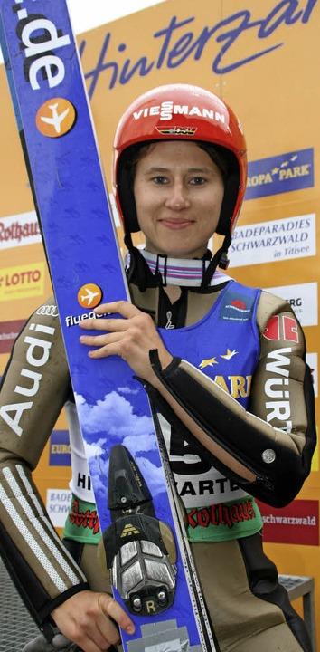 Skispringen ist ihre Leidenschaft. Nac... Ramona Straub zurück in den Weltcup.   | Foto: dieter maurer