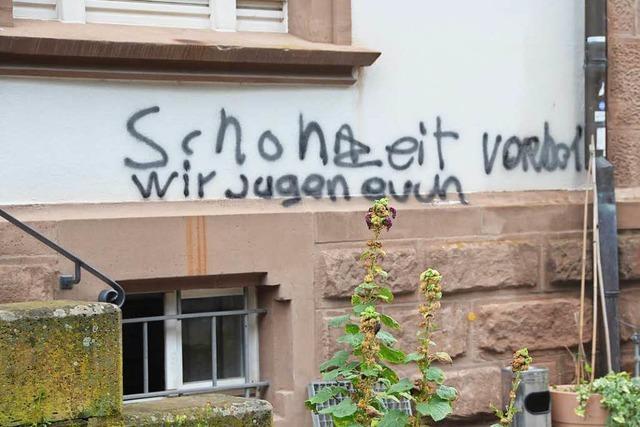 Nellie Nashorn in Lörrach fordert breites Bündnis für Demokratie