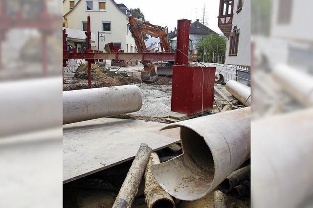 Baustelle steht vor dem Ende