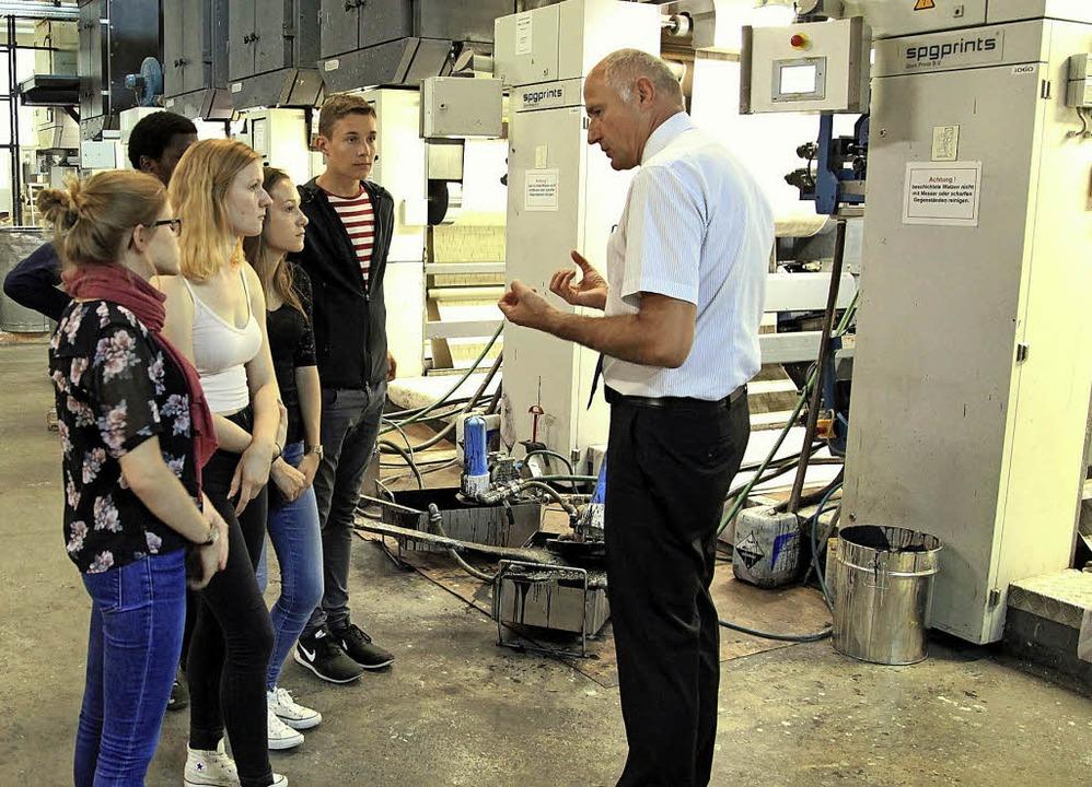 Martin Slotty, Geschäftsführer der  Fi...r durch die Breisacher Tapetenfabrik.   | Foto: Privat