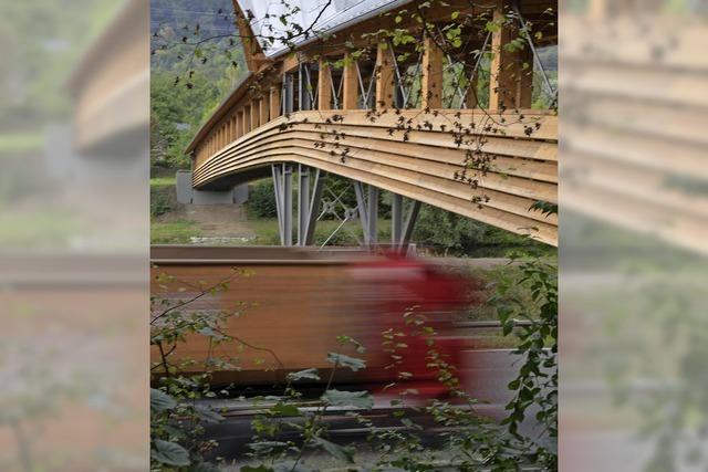Eine Brücke zieht die Blicke auf sich