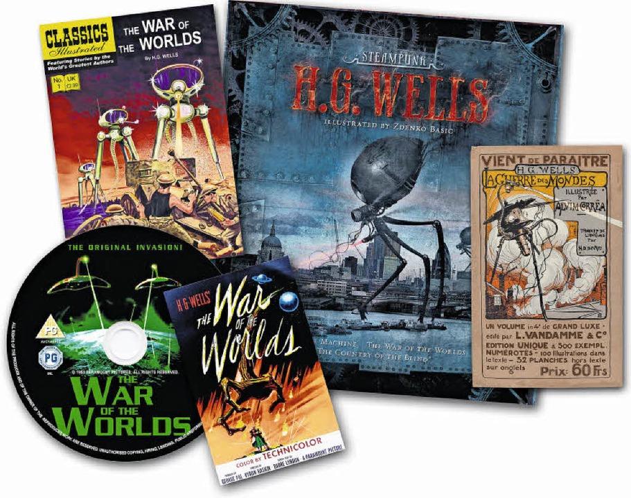 Multimediale Kampfmaschinen:   H. G. W...gazin und Buch,  auf CD und als Film.   | Foto: Montage: Regula Wolf