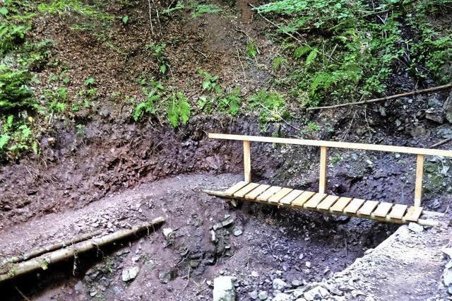 Müllerweg an der Lotenbachklamm ist wieder begehbar