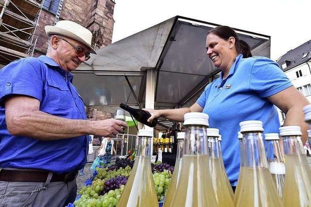 Im September sind Obst und Gemüse auf dem Münstermarkt in Bestform