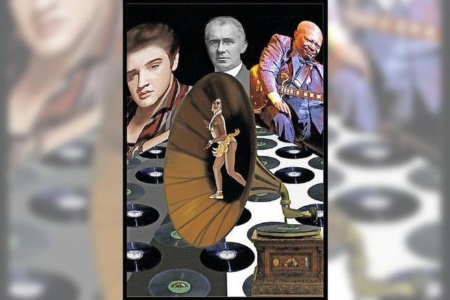 Ausstellung zum Thema Schallplatte in Weisweil