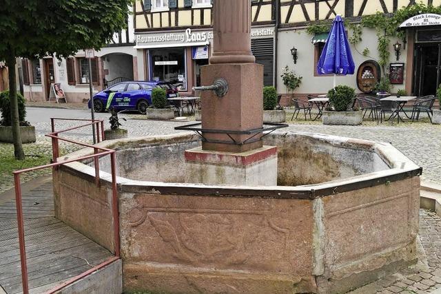 Wettebrunnen wird angehoben