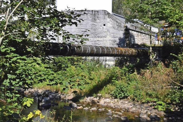 Rohrbrücke wird saniert