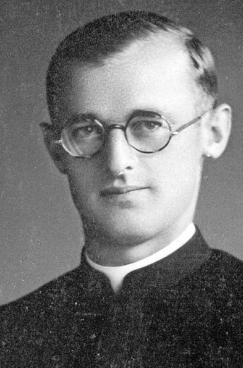 Der junge Pater Engelmar Unzeitig   | Foto: Archiv Mariannhill Reimlingen/dpa