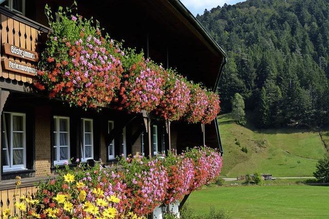 Üppiger Blumenschmuck an Schwarzwaldhäusern
