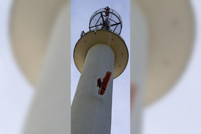 Rettung in 80 Meter Höhe